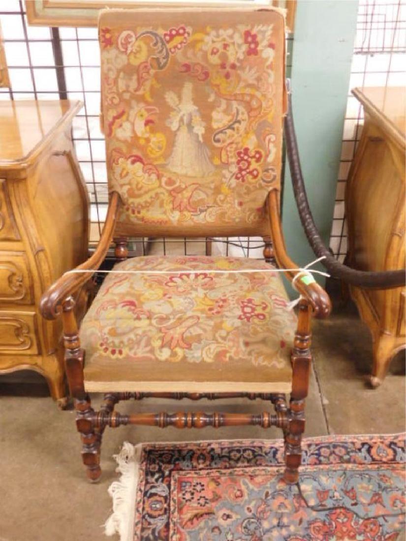 Wm & Mary Style Arm Chair