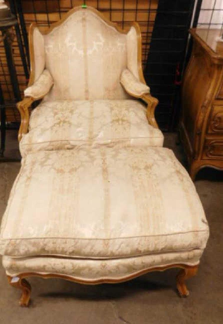 French Provincial Style Arm Chair & Ottoman