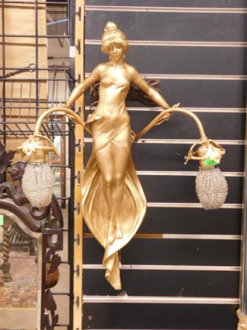 Art Nouveau Figural Sconce