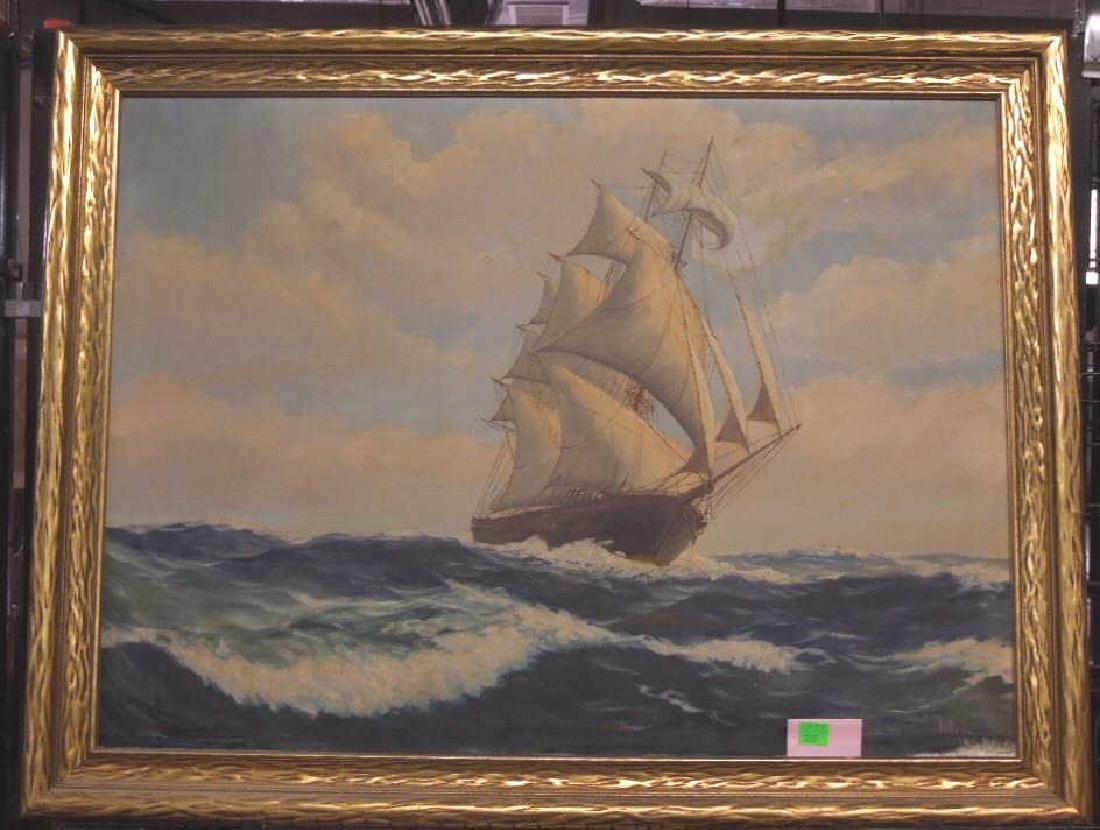H.H. Howe, o/c, Clipper Ship