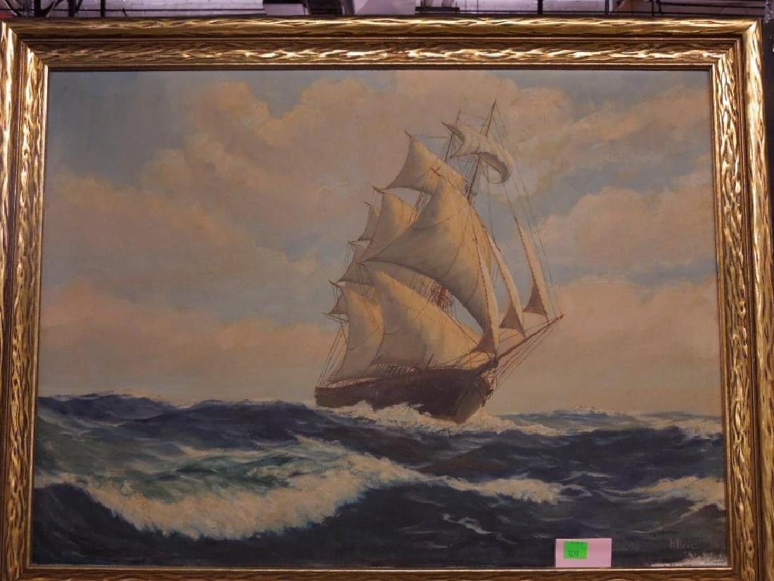 H.H. Howe, o/c, Clipper Ship - 2