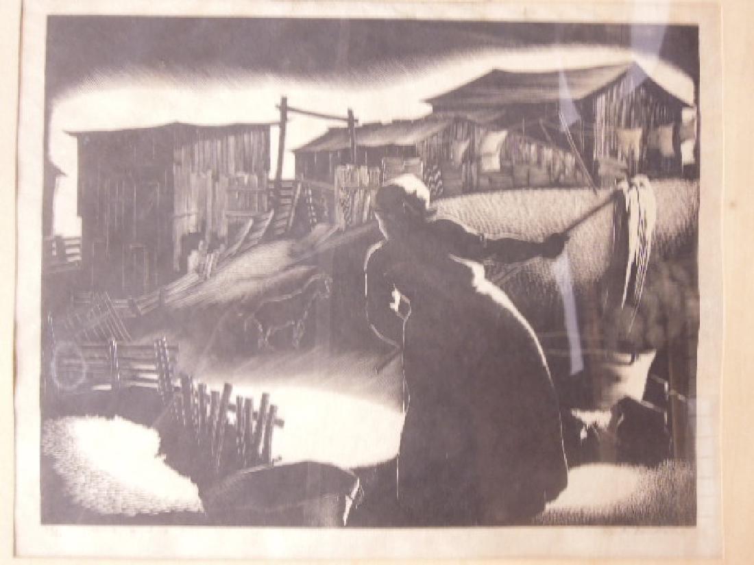 Paul Hildabrand Landaire, Engraving - 2