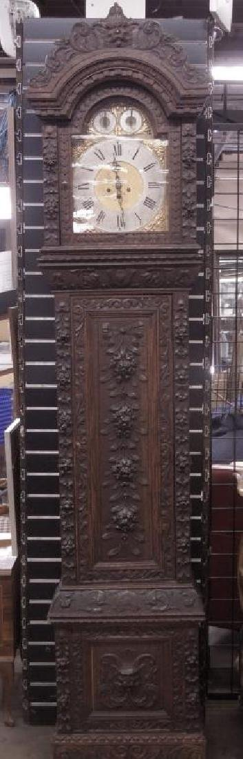 Continental Tall Case Jacobean-Style Clock