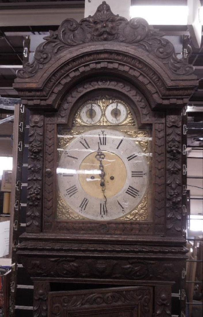 Continental Tall Case Jacobean-Style Clock - 2