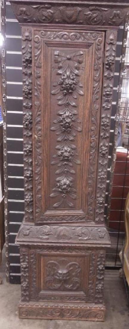 Continental Tall Case Jacobean-Style Clock - 4