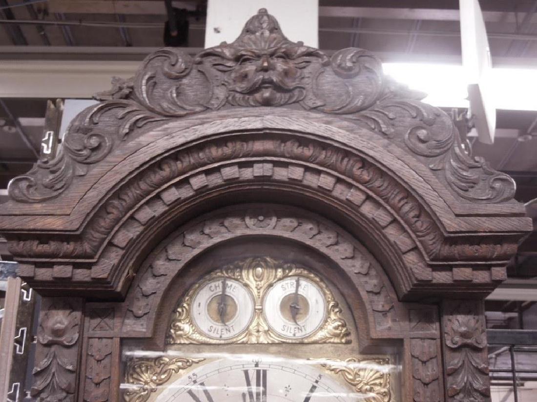 Continental Tall Case Jacobean-Style Clock - 9