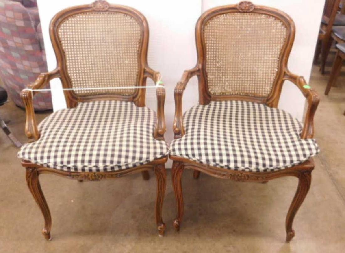 Pr French Provincial Arm Chairs