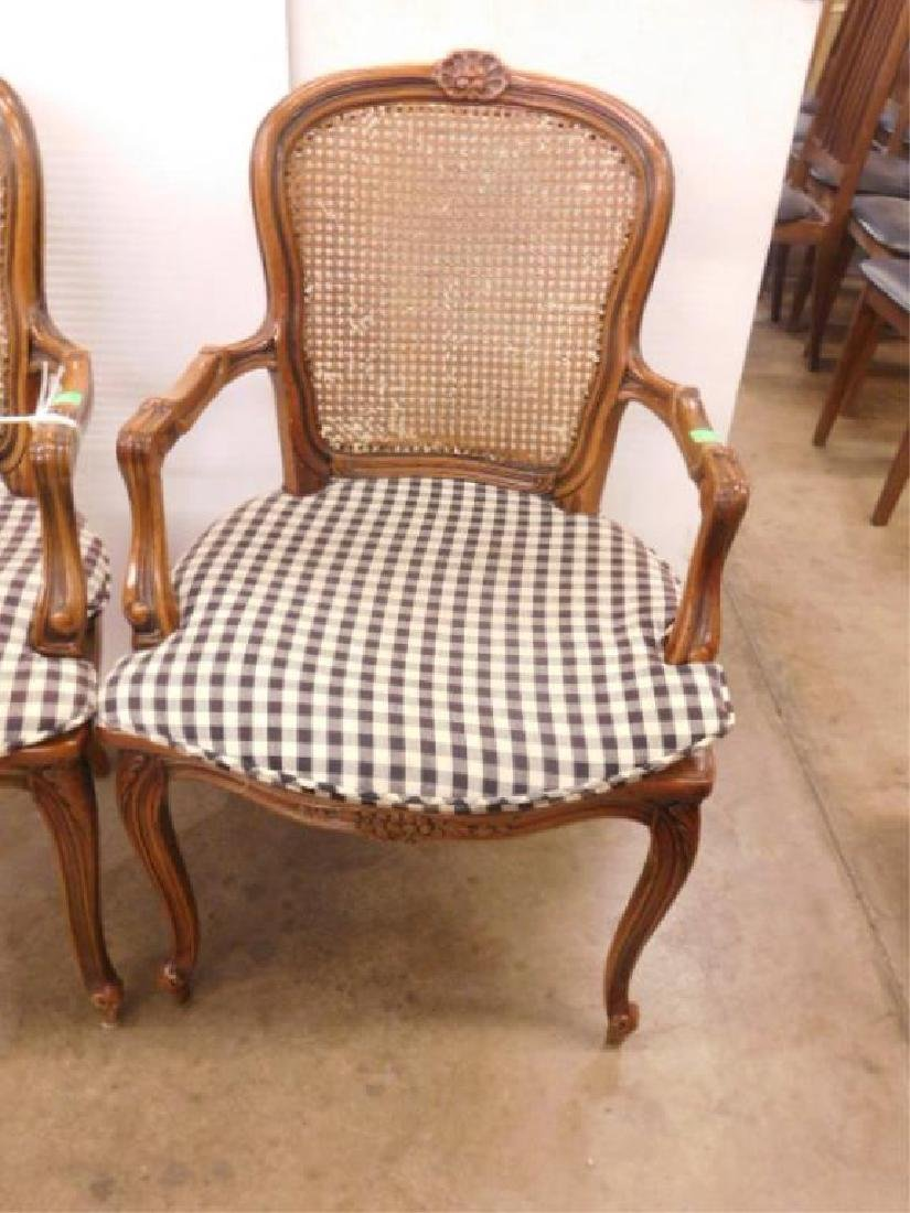 Pr French Provincial Arm Chairs - 2