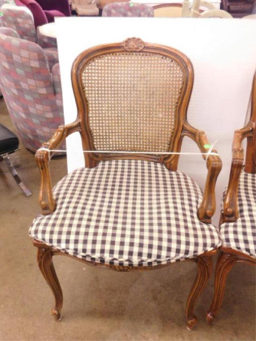 Pr French Provincial Arm Chairs - 3
