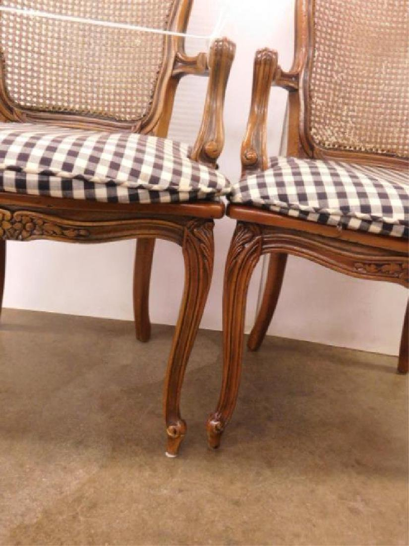 Pr French Provincial Arm Chairs - 4