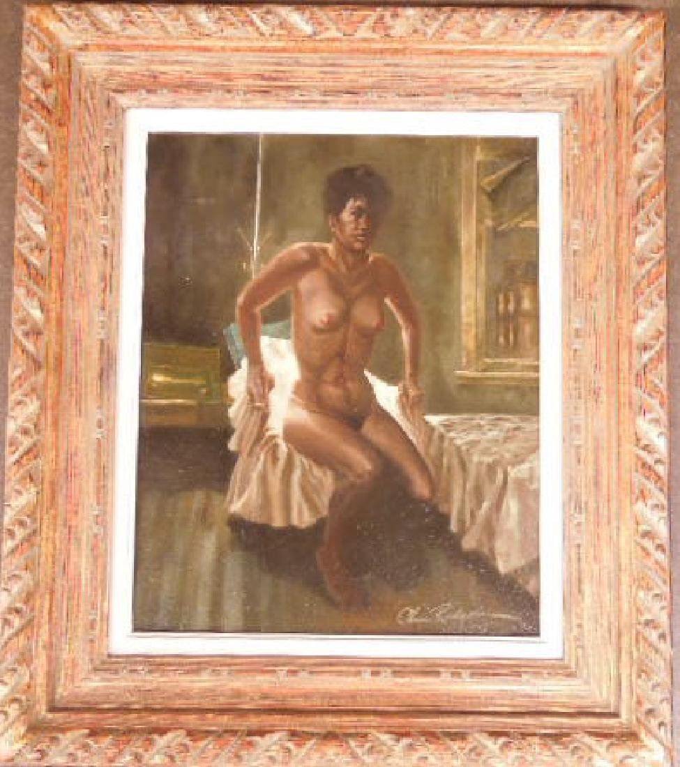 Chas Rogers, Nude Female, Acrylic on Masonite