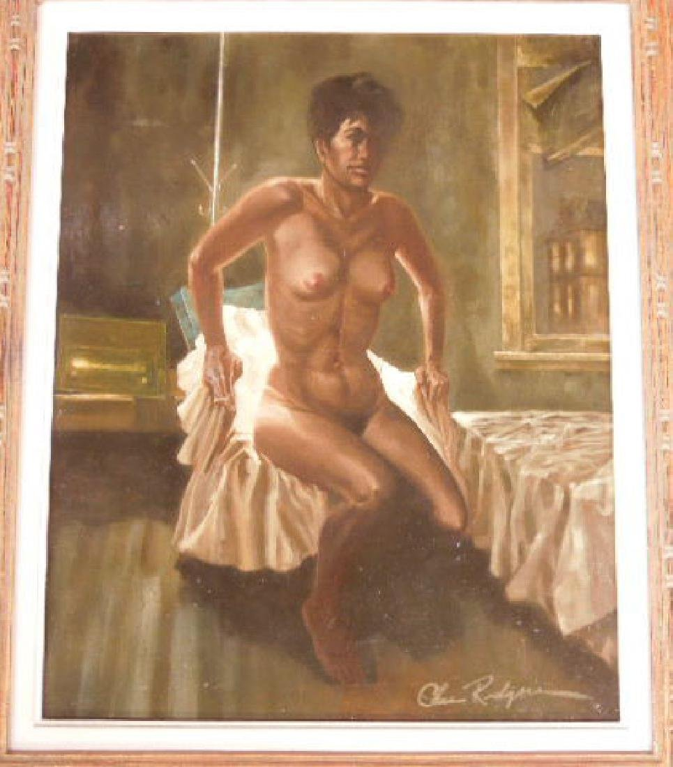Chas Rogers, Nude Female, Acrylic on Masonite - 2