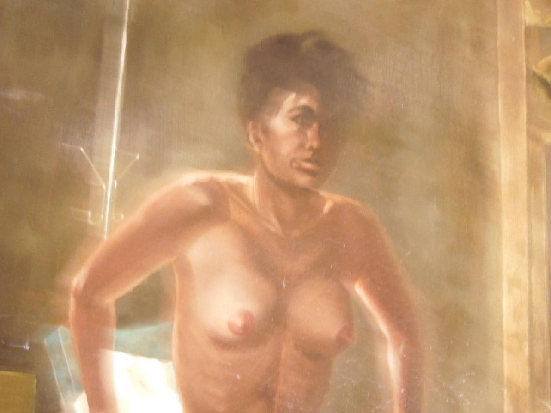 Chas Rogers, Nude Female, Acrylic on Masonite - 4