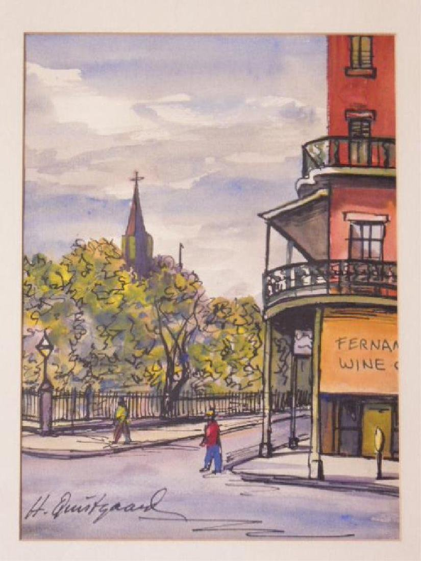 Pair Harold Quistgaard Signed Watercolors - 2
