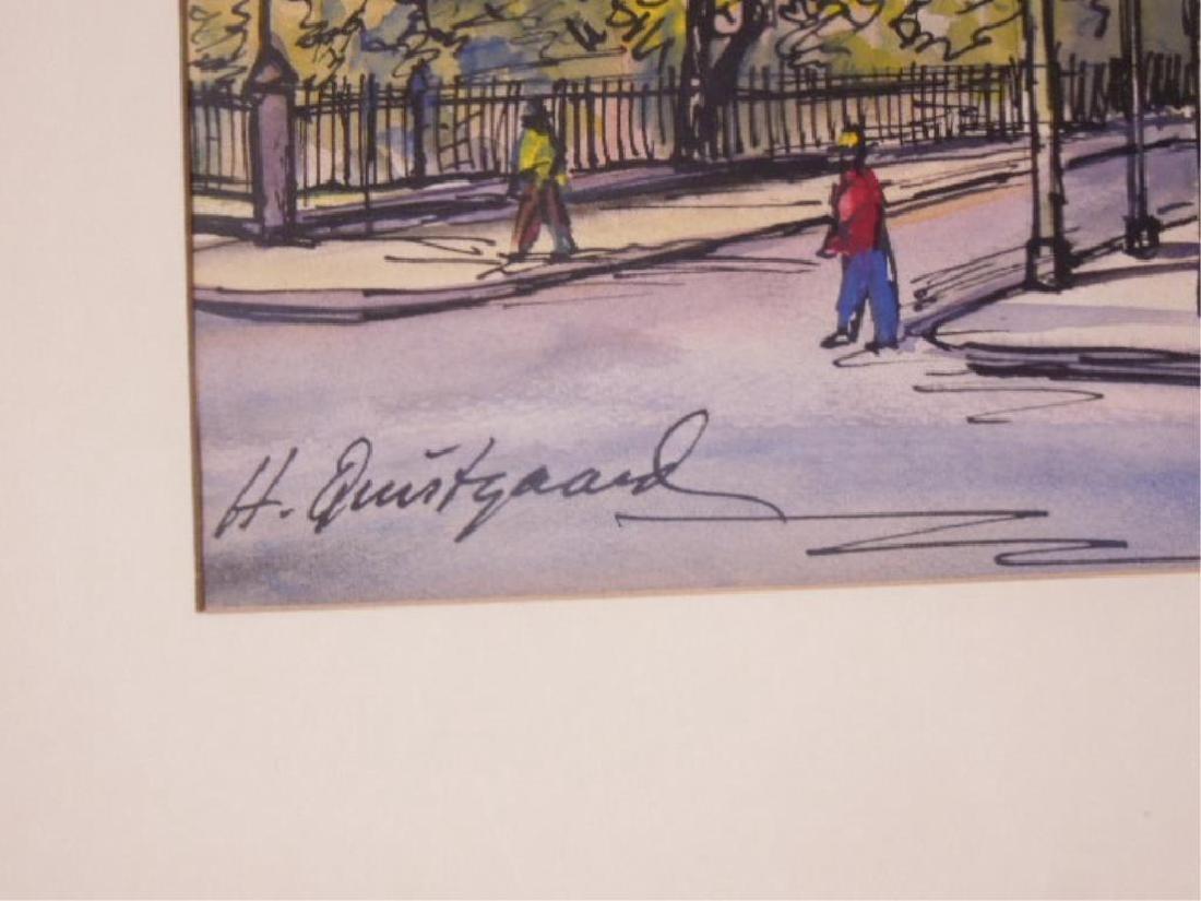 Pair Harold Quistgaard Signed Watercolors - 4