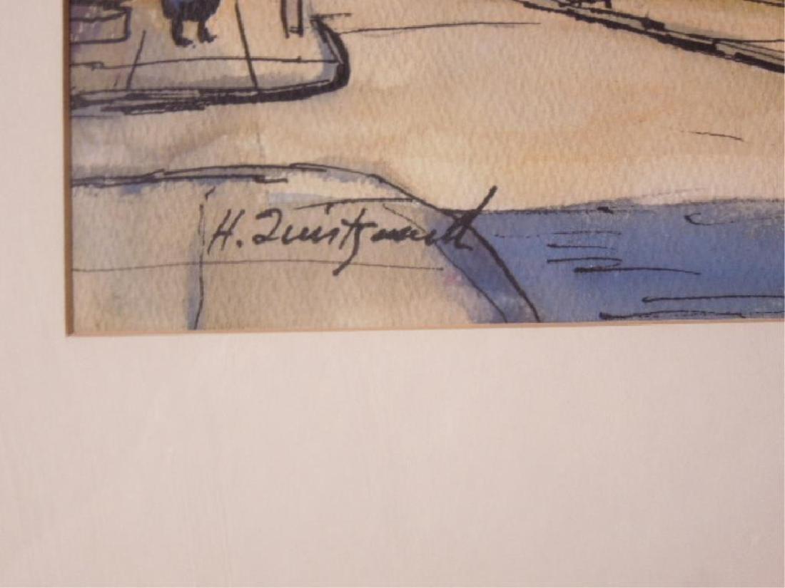 Pair Harold Quistgaard Signed Watercolors - 5