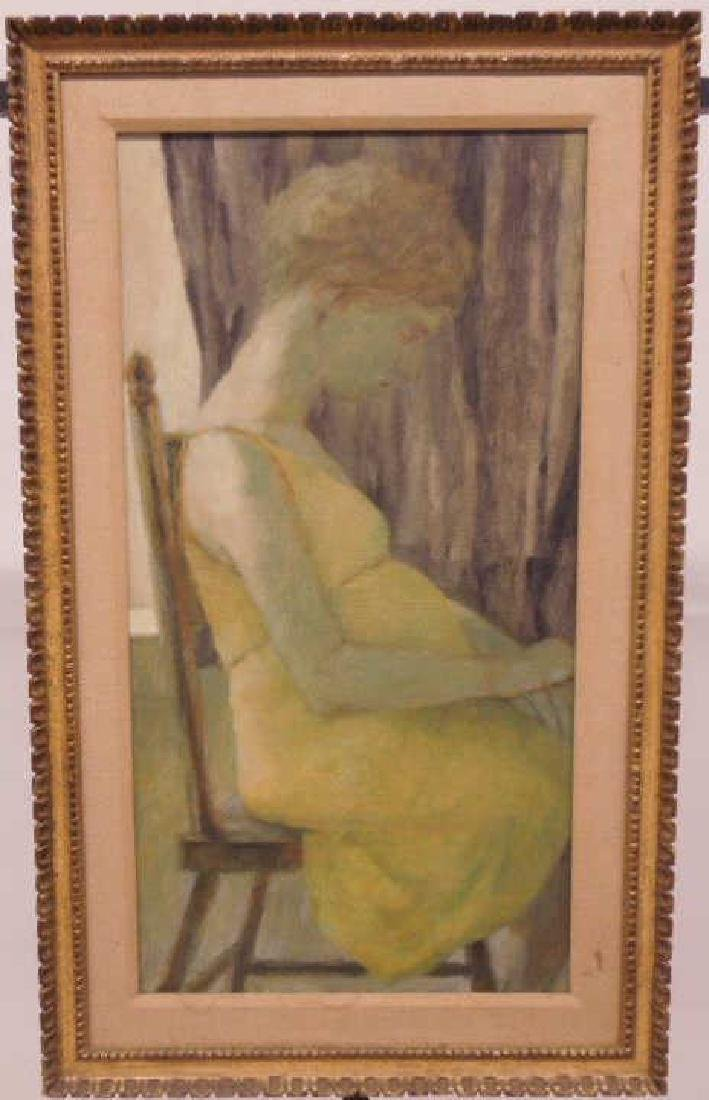 Rita Wolpe Barnett, o/c, Profile of a Woman Seated