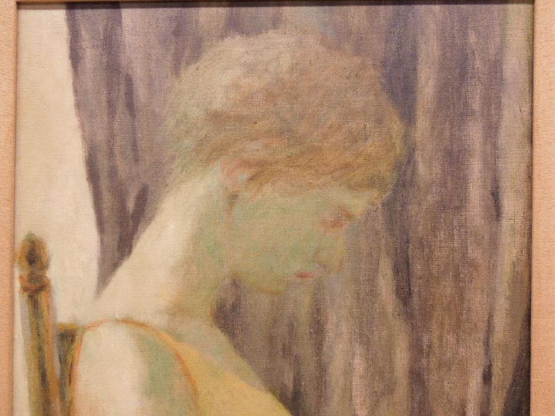 Rita Wolpe Barnett, o/c, Profile of a Woman Seated - 3