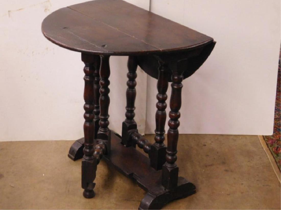 Tudor Style Gate Leg Table - 2