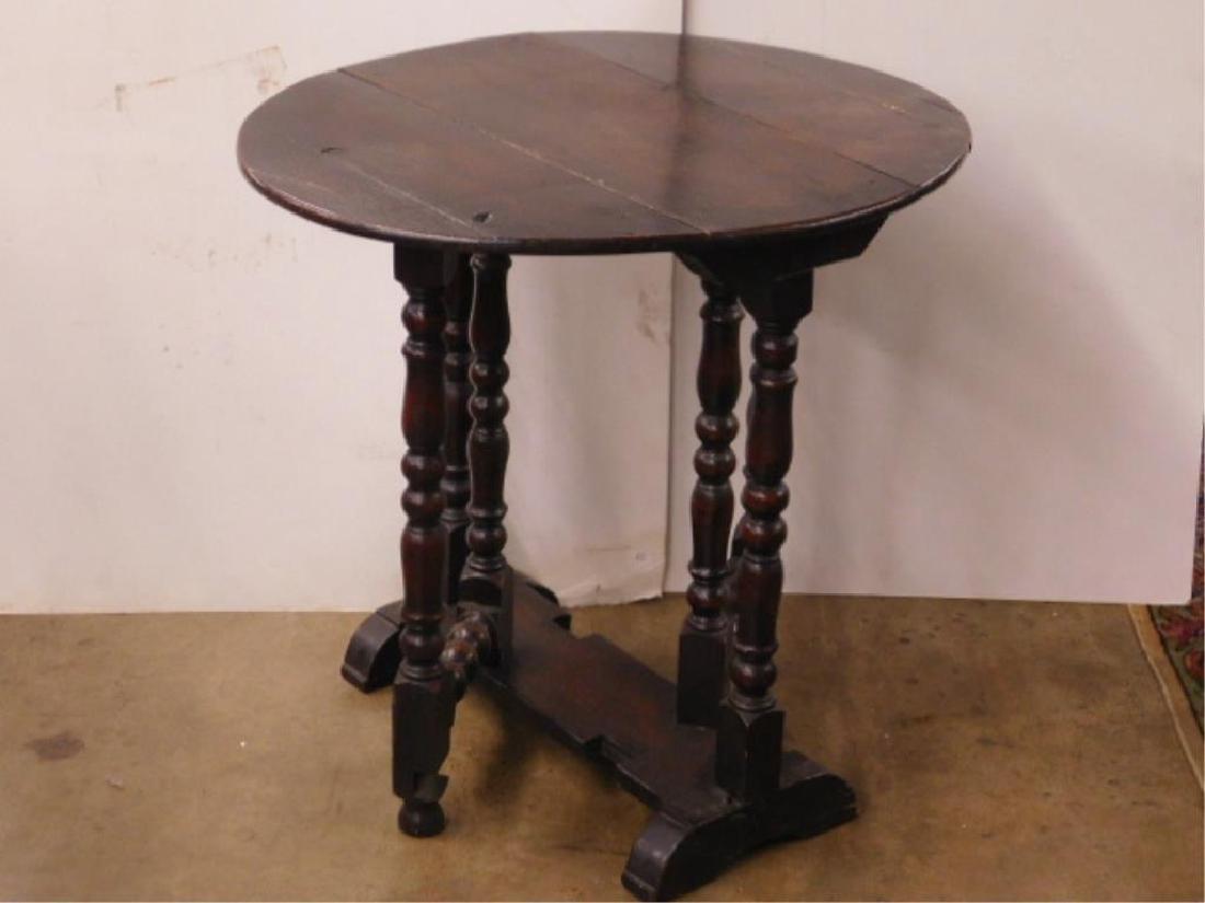 Tudor Style Gate Leg Table - 3