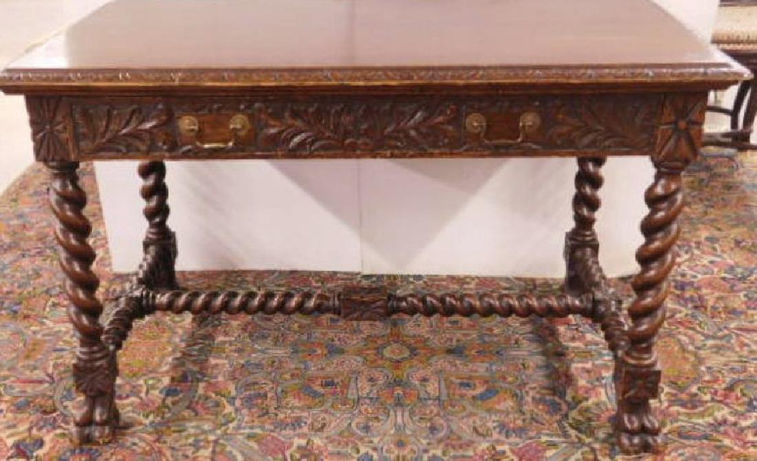 Renaissance Revival Library Table