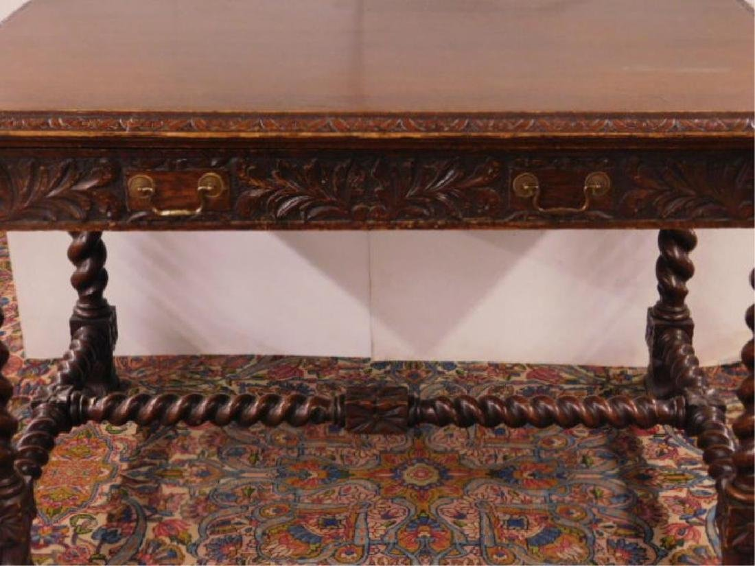 Renaissance Revival Library Table - 4