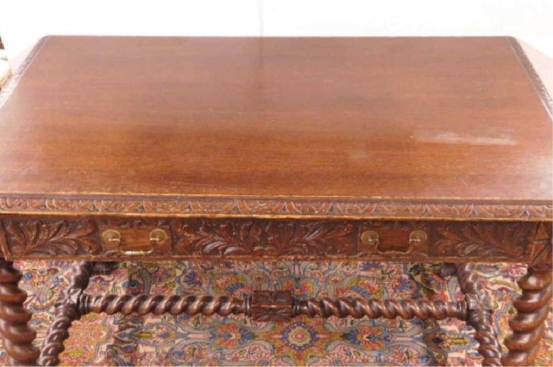 Renaissance Revival Library Table - 5