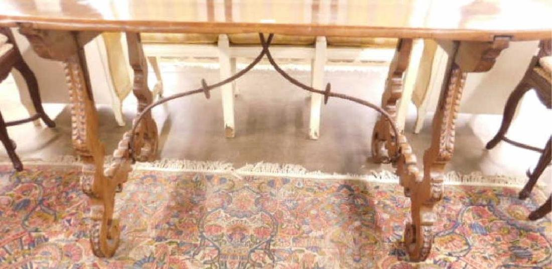 Renaissance-Style Library Table - 2