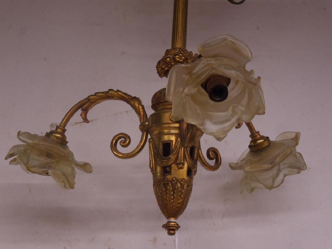 Pair French Style Small Chandeliers - 3