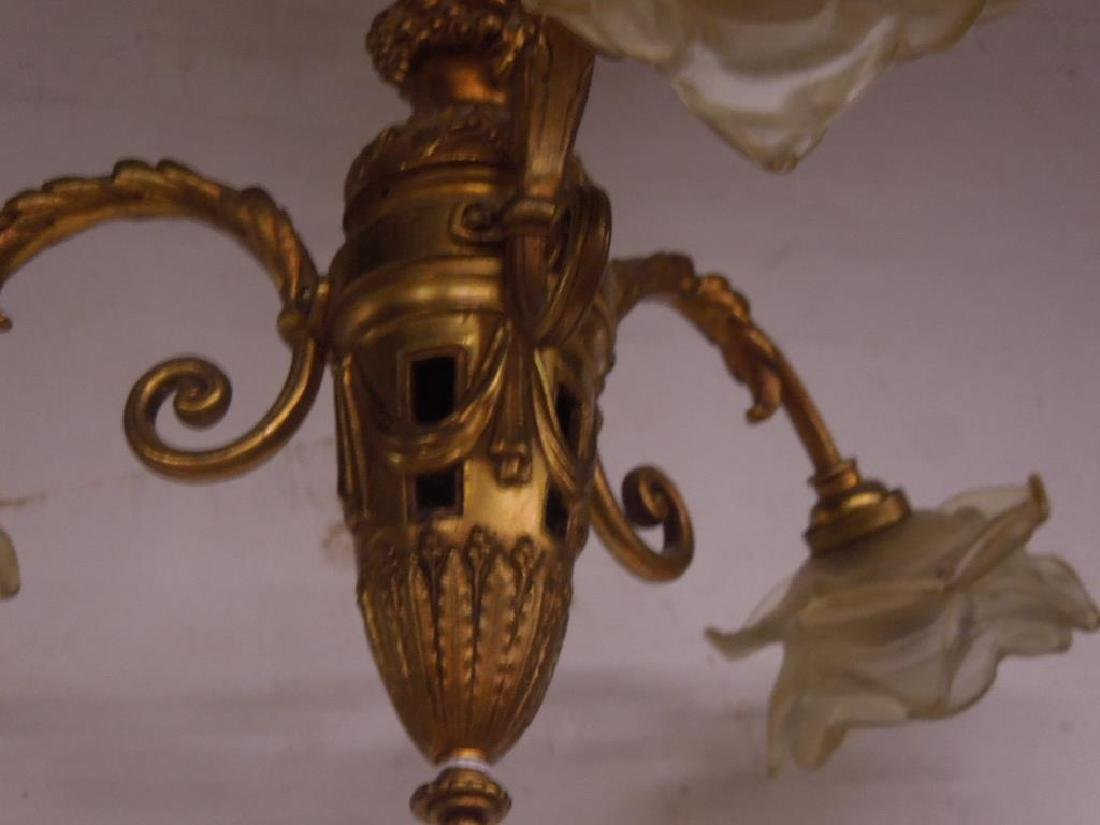 Pair French Style Small Chandeliers - 4
