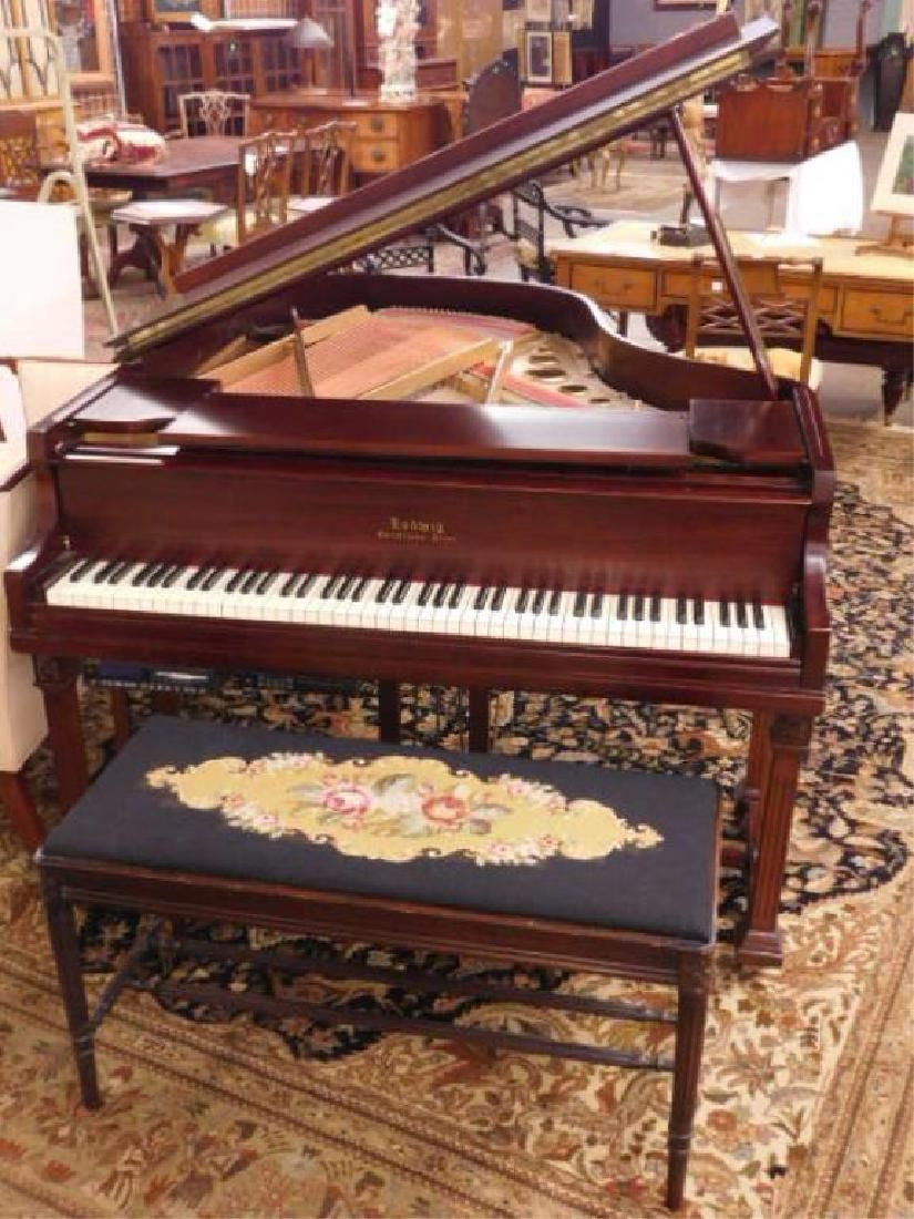 Baby Grand Disc Player Piano & Bench