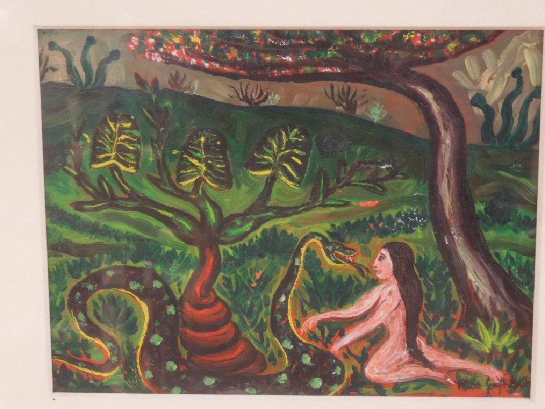 Batten (?), oil, Garden of Eden