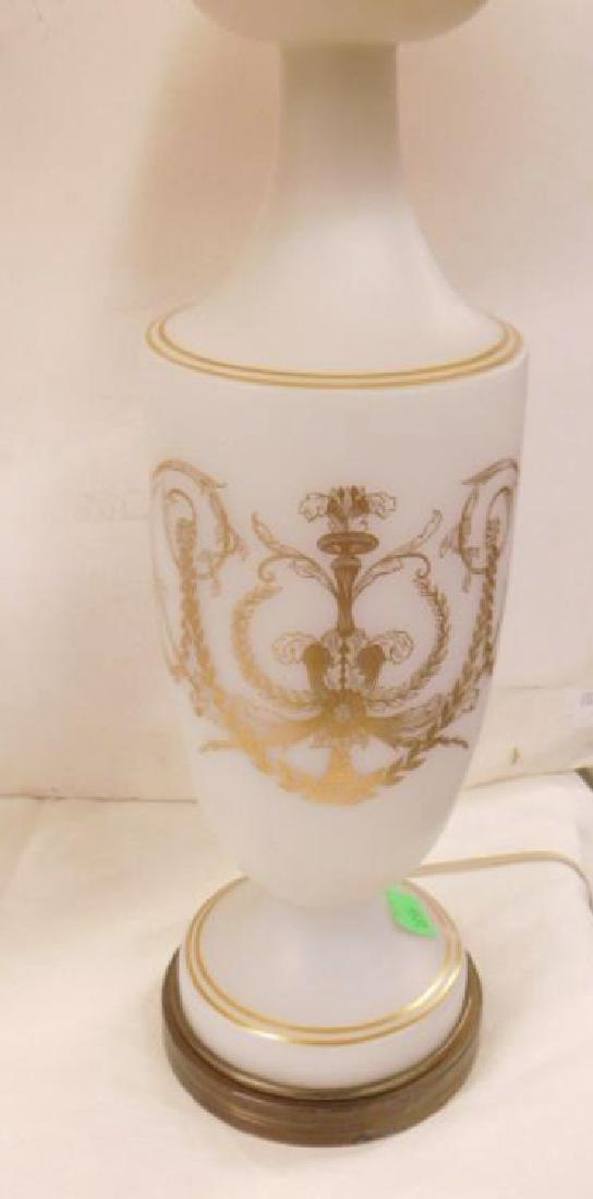 Pr Bristol Glass Table Lamps - 3