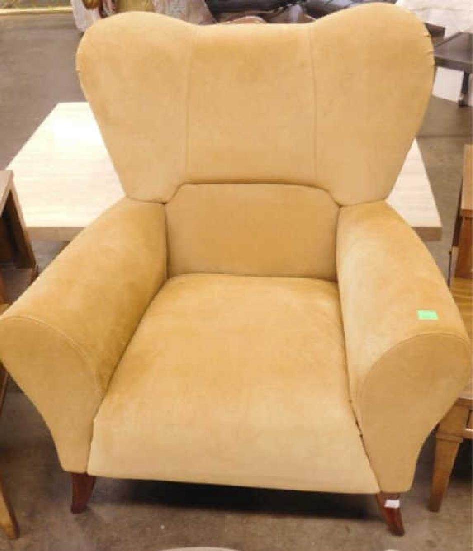 Contemporary Suede Arm Chair