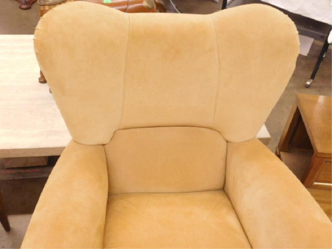 Contemporary Suede Arm Chair - 2