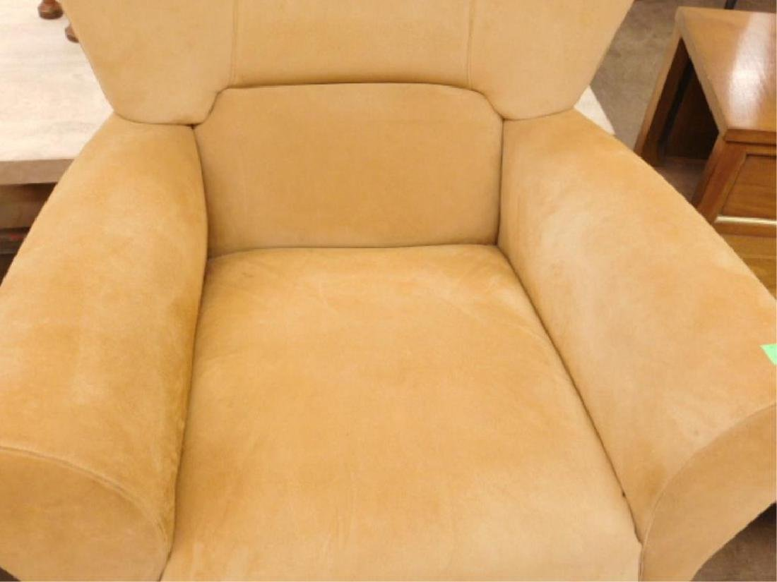 Contemporary Suede Arm Chair - 3
