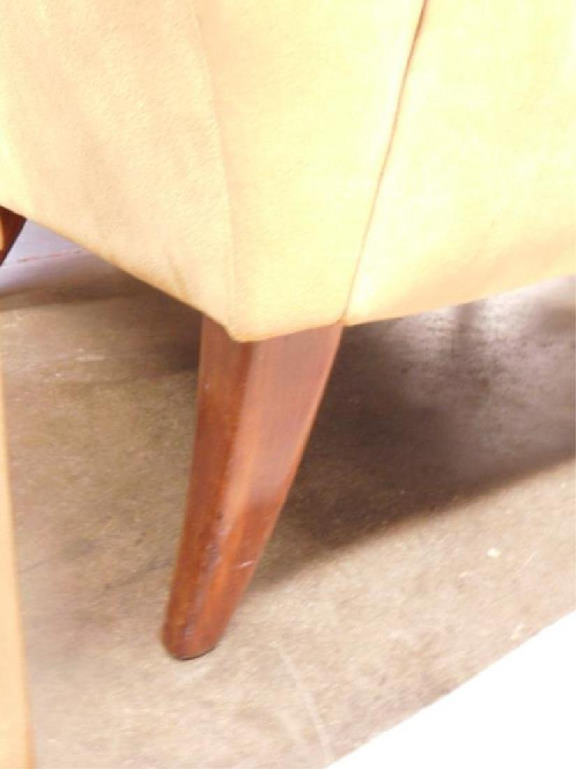 Contemporary Suede Arm Chair - 4
