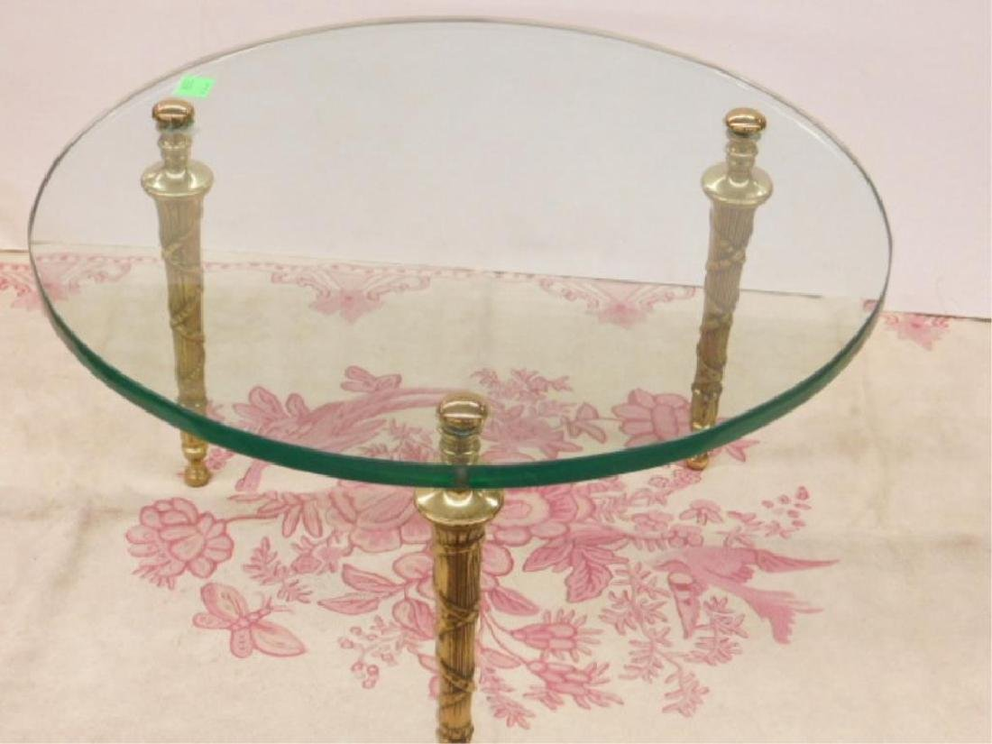 Glass & Brass Cocktail Table