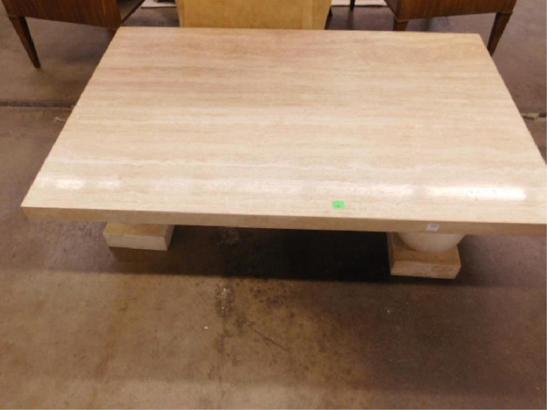 MCM Travertine Marble Coffee Table