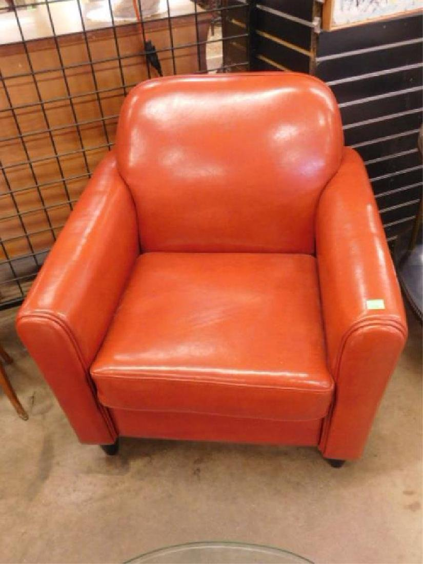 Pr Contemporary Leather Club Chairs
