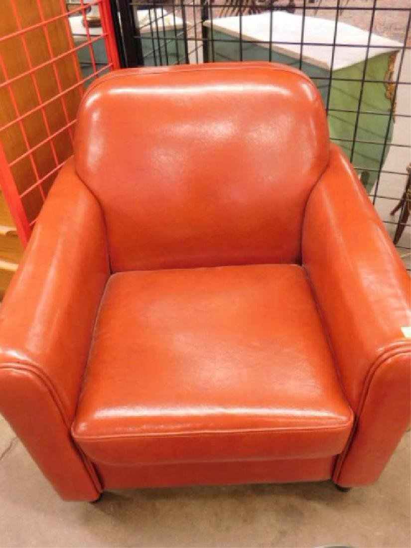 Pr Contemporary Leather Club Chairs - 2