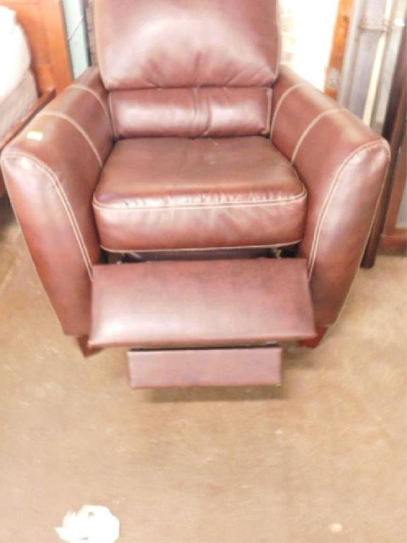 Contemporary Leather Recliner - 2