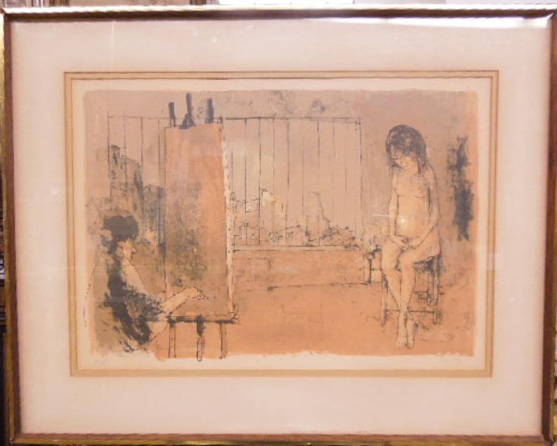 Jean Jansem Signed Lithograph