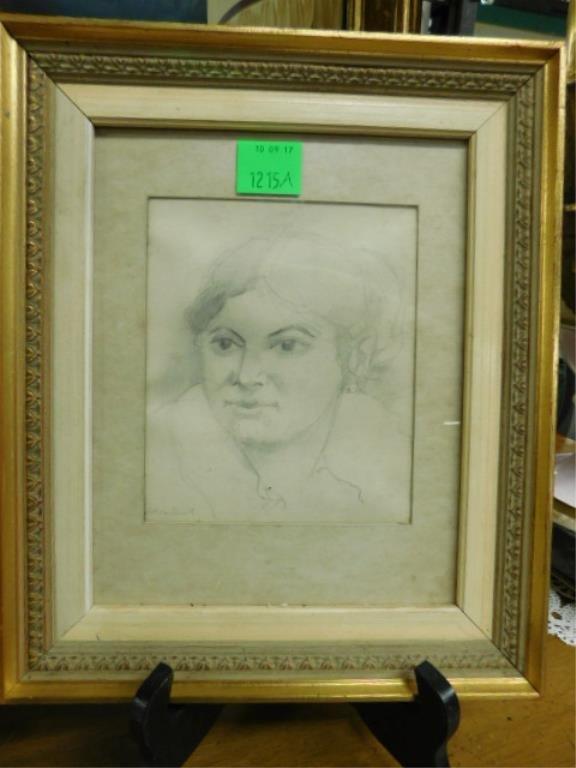 [3] Wm Barnett, Drawing, Studies of Female Heads - 3