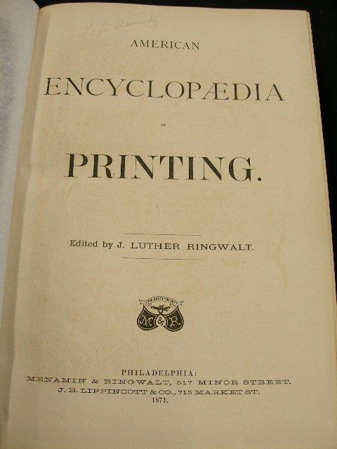 4002: American Encyclopedia of Printing. Editor J. Luth