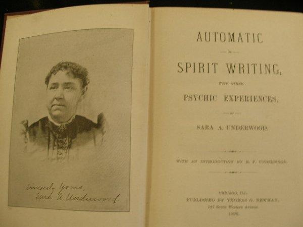 4020: Underwood, Sara A. Automatic or Spirit Writing