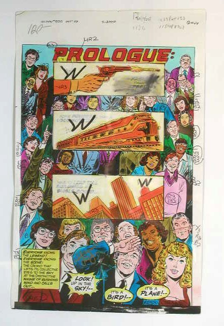 1011: Action Comics Comic Book Illustration Art