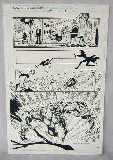 1014: Amazing Spiderman Comic Book Illustration Art