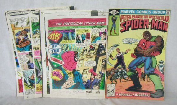 1016: Spectacular Spiderman Comic Book Art