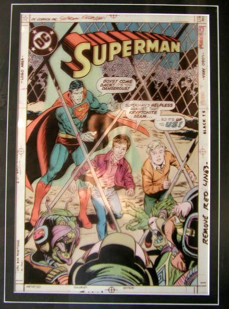 1018: Superman Comic Book Illustration Art